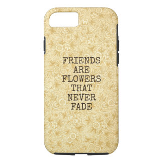 Floral Bouquet Girly Retro Beige Floral Blooms iPhone 7 Case