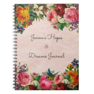 Floral bouquet notebook