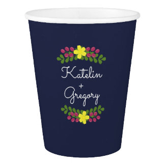 Floral Bouquet Paper Cups