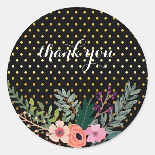 Floral bouquet party * choose background colour classic round sticker
