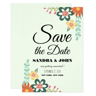 Floral Bouquet Save the date Card