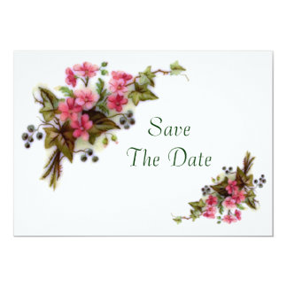 Floral Bouquet Save The Date 5x7 Paper Invitation Card