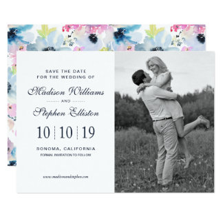 Floral Bouquet Watercolor - Save the Date Card