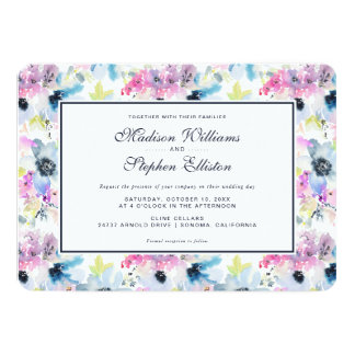 Floral Bouquet Watercolor -  Wedding Card