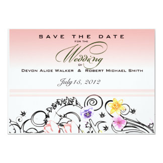 Floral Bouquet Wedding Save the Date Invite