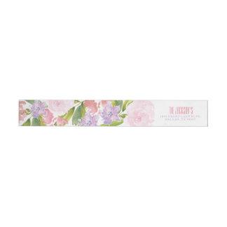 Floral Bridal Shower Address Return Label