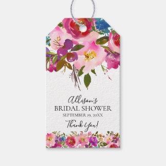 Floral Bridal Shower Favor Gift Tag