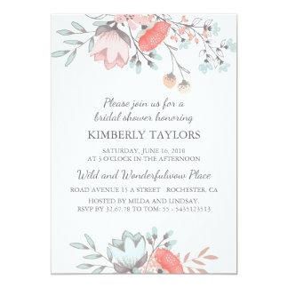 Floral Bridal Shower Vintage Invitation