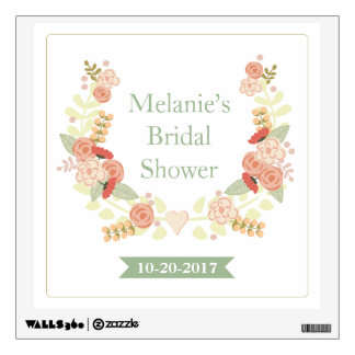 Floral Bridal Shower Wall Decal