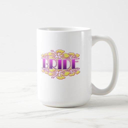 floral bride  wedding shower bridal party fun mug