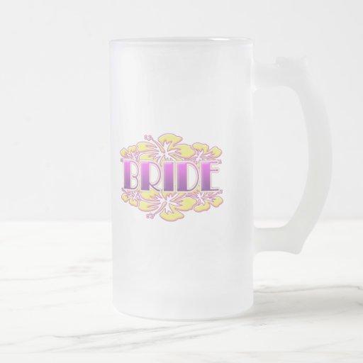 floral bride  wedding shower bridal party fun coffee mug