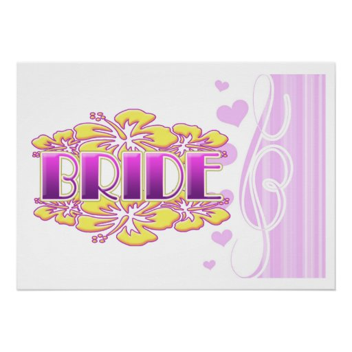 floral bride  wedding shower bridal party fun poster