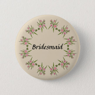Floral Bridesmaid Button (Beige)