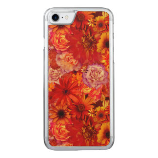 Floral Bright Rojo Bouquet Rich Red Hot Daisies Carved iPhone 7 Case