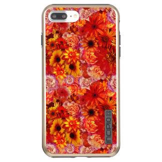 Floral Bright Rojo Bouquet Rich Red Hot Daisies Incipio DualPro Shine iPhone 7 Plus Case