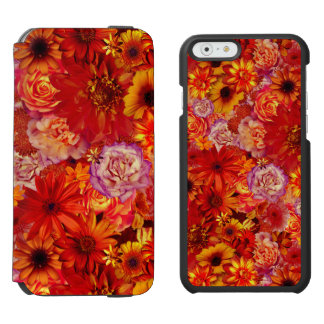 Floral Bright Rojo Bouquet Rich Red Hot Daisies Incipio Watson™ iPhone 6 Wallet Case