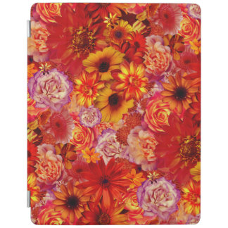 Floral Bright Rojo Bouquet Rich Red Hot Daisies iPad Cover