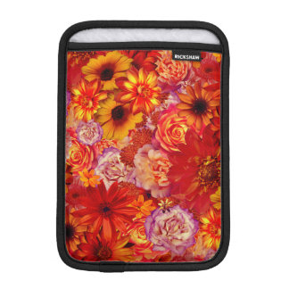 Floral Bright Rojo Bouquet Rich Red Hot Daisies iPad Mini Sleeve