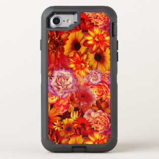 Floral Bright Rojo Bouquet Rich Red Hot Daisies OtterBox Defender iPhone 8/7 Case