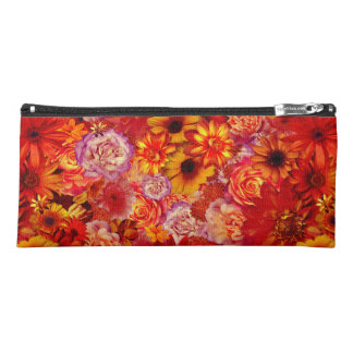 Floral Bright Rojo Bouquet Rich Red Hot Daisies Pencil Case