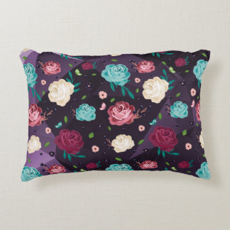 """""""Floral"""" Brushed Polyester Accent Pillow 16"""" x 12"""""""