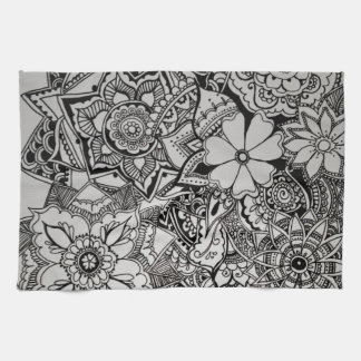 Floral Bunch Henna Kitchen Towel