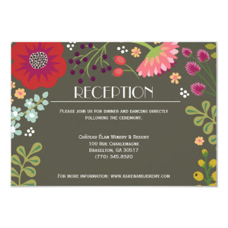 Floral Bunch Reception Card