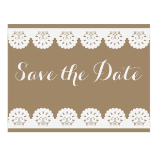 Floral Burgundy Save the Date Red Lovebird Wedding Postcard