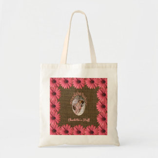 Floral Burlap Baby Girl | Create Your Own Mom