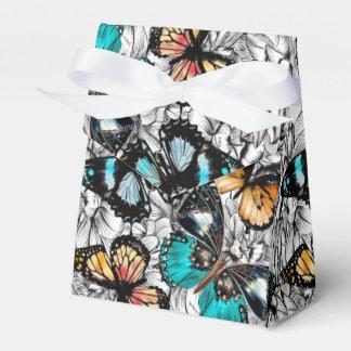 Floral Butterflies colorful sketch pattern Favor Box