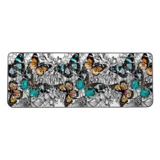Floral Butterflies colorful sketch pattern Wireless Keyboard