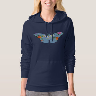 Floral butterfly hoody