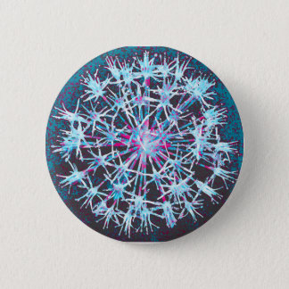 Floral button badge