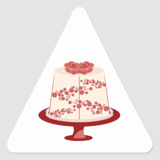 Floral Cake Triangle Stickers