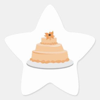 Floral Cake Star Sticker
