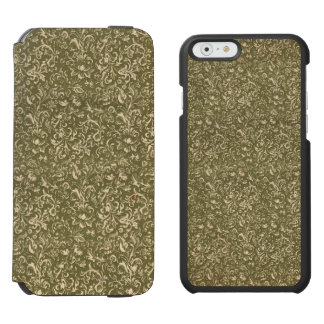Floral Calico Cowboy Western USA Print Kale Green Incipio Watson™ iPhone 6 Wallet Case