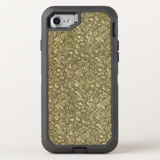Floral Calico Cowboy Western USA Print Kale Green OtterBox Defender iPhone 8/7 Case