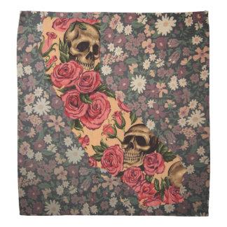 Floral California State Skull bandanna