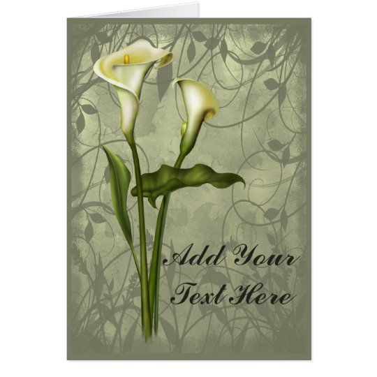 Floral Calla Elegance Card
