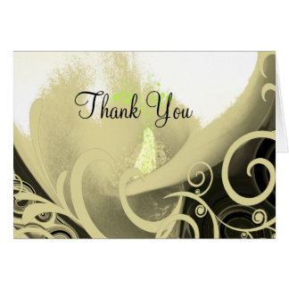 Floral Calla lily Thank You Card