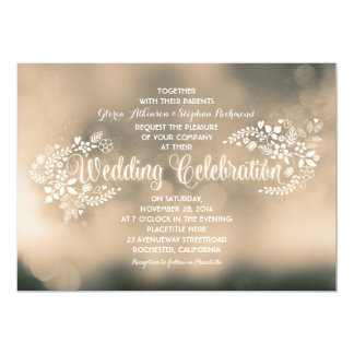 floral calligraphy wedding invitations