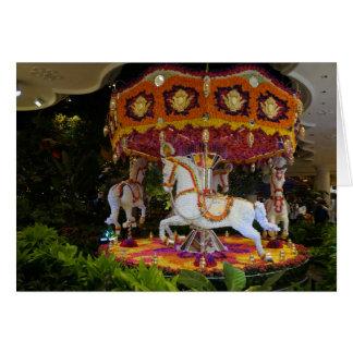 Floral Carousel Wynn Las Vegas Greeting Card