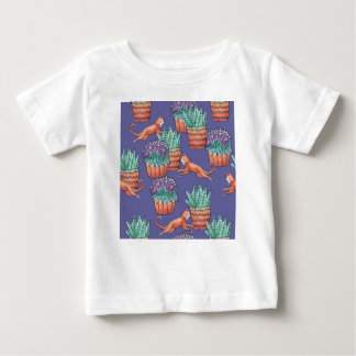 floral cats baby T-Shirt
