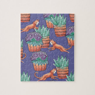 floral cats jigsaw puzzle