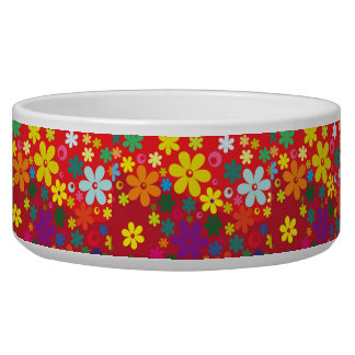 Floral Ceramic Pet Bowl