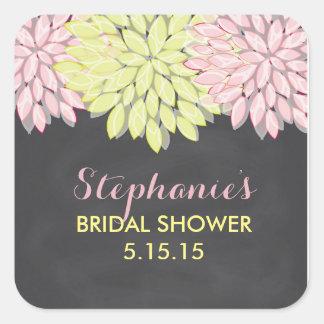 Floral Chalkboard Bridal Shower Favor Tags