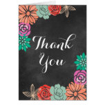 Floral Chalkboard Bridal Shower Thank you card