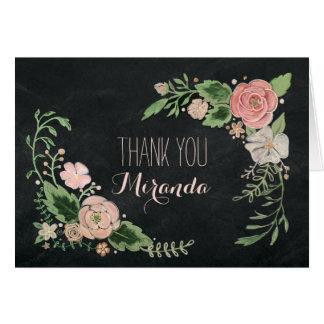Floral Chalkboard Card