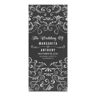 floral chalkboard handwritten wedding program card