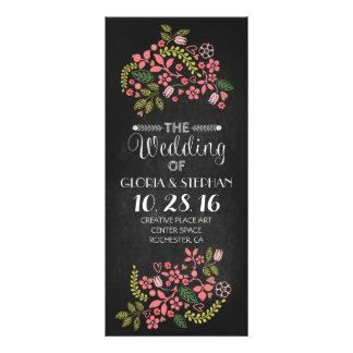floral chalkboard wedding program cards